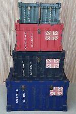 point-home 5-er Set Lifestyle Cargo Container Truhe Kiste Aufbewahrungsbox NEU