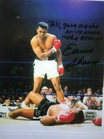 "ERNIE SHAVERS SIGNED ""MUHAMMAD ALI VS SONNY LISTON"" 8X10P PHOTO 'INSCRIBED"""