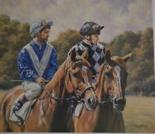 Willie Shoemaker & Steve Cauthen Signed Print 67/475 - Unframed - Roy Miller