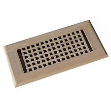 4x10 Inch Red Oak Egg Crate Vent Floor Register Self Rimming, Unfinished,WELLAND
