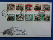 Isle of Man FDC 12.08.2005 TIME TO REMEMBER