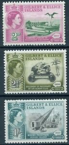 sa3926 Gilbert & Ellice Islands - Sc#73-75 Hinged