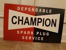 Vintage Champion Spark Plugs Porcelain Sign
