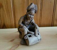 Estatuilla Africana de Barro Cocido