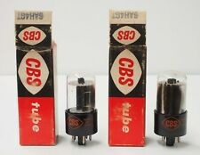 Pair NOS CBS 6AH4GT Tubes Tested TV-7D/U