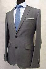 MEN'S GRIGIO ZARA Slim Fit Suit Giacca Blazer 38R sk791