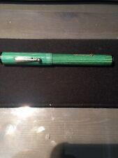 Justrite Restored Oversized Flattop Fountain Pen. Gorgeous Celluloid