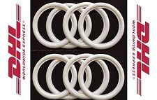 "14"" ATLAS WHITE WALL PORTAWALL TYRE INSERT TRIM SET 8 PCS MERCEDES BMW."