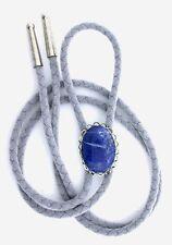 Natural Oval 25x18 Lapis Lazuli Cab Cabochon Gemstone Bolo Tie Cord Tips EPBT79N