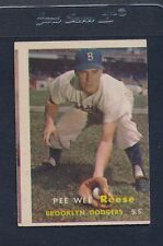 1957 Topps #030 Pee Wee Reese Dodgers VG *16