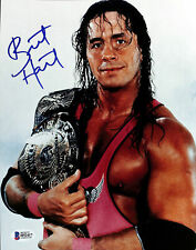 Bret Hart WWE Wrestling Authentic Signed 8x10 Photo Autographed BAS 1