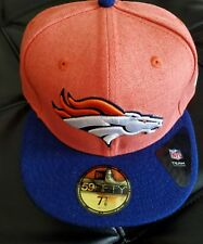 Denver Broncos New Era NFL Heather Action 2 Tone 59FIFTY Cap Fitted Hat 7 3/8
