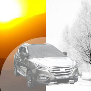 Magnet Car Truck SUV Windshield Cover Sun Shade Protector+Mirror Cover waterprof