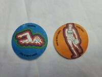 Vintage 1980 Minute Maid/Coca Cola Moscow Olympics Patches-Swimming & Basketball