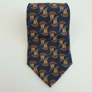 Country Road Italy Mens 100% Silk Neck Tie Waves 57L 3.75W TI50