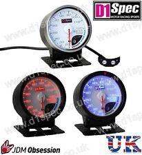 D1 Spec Universal Racing la temperatura del agua Calibre 60mm Esfera Blanca Jdm Rally Drift