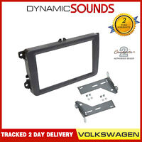 CT24VW12 Black Double Din Fascia Frame & Brackets For Volkswagen Golf 2003-2013