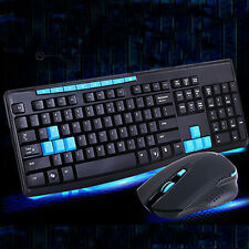 1000DPI RF 2.4G Wireless Keyboard and  Mice Mouse Set for Desktops Laptops