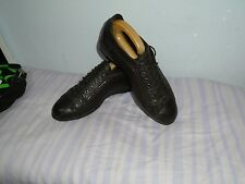 MENS EMPORIO ARMANI DARK BROWN LEATHER LACE-UP SHOES SIZE UK 8