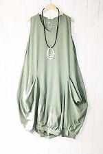 Moonshine Kleid Ballonkleid  Gr 42 44 46 Lagenlook Taschen Khaki Neu