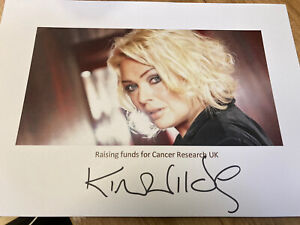 KIM WILDE HAND SIGNED AUTOGRAPH A4 SIZE