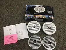 "JENSEN 6.5"" HP Boat Marine Coaxial Speaker (Pair) White/Silver Grills  MSX65R"