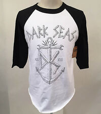 Loser Machine Dark Seas Men's Baseball T-Shirt DS Anchor White/Black Size S NEW