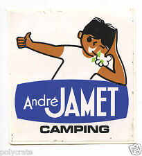 Autocollant Sticker Pub - André Jamet Camping an. 1970