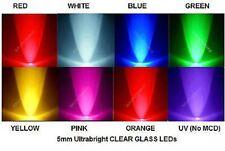 USA*100x 5mm Flat Top Ultrabright LED White Blue Green Yellow Orange Pink