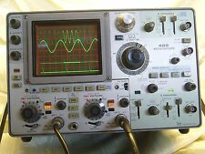 TEKTRONIX 485 OSCILLOSCOPE, 350 MHz, DUAL TRACE, 41 TANTALUM CAPS REPLACED