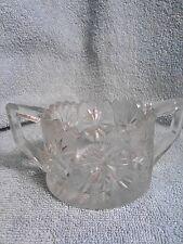 Vintage Lead Crystal Double Handled Sugar Bowl