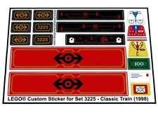 Lego® Custom Pre-Cut Sticker for Train 9V set 3225 - Classic Train (1998)