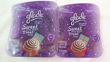 4 Glade Plugins Scented Oil Refills Sweet Holiday Treat Limited Collection NIB