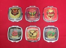6 Assorted  Lot - Kingsley  Double Compact  Mirror  Tattoo – New