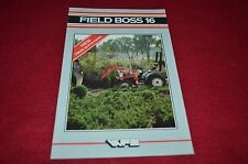 White Field Boss 16 Tractor Dealers Brochure BWPA