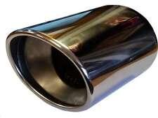 FIAT BRAVO 110x180mm Punta Tonda di scarico tubo di coda pezzo di acciaio inox per saldatura