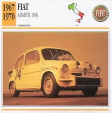 1967-1970 FIAT ABARTH 1000 Racing Classic Car Photo/Info Maxi Card