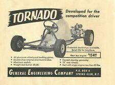 Vintage & Very Rare 1960 Tornado Go-Kart Ad