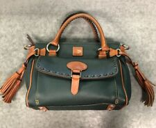 Dooney Bourke Green Pebbled Florentine Leather Pocket Satchel Envelope Front
