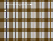 Vintage Wallpaper Country Plaid Blue Brown and Tan by Motif
