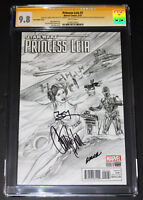 STAR WARS PRINCESS LEIA #1 CGC 9.8 SS 3X CARRIE FISHER 1:200 SKETCH ~1 OF A KIND