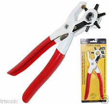 6 Sized Heavy Duty Leather Hole Punch Hand Pliers Belt Holes W Coating Hand Tool