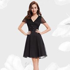 Ever-Pretty Chiffon Short Sleeve Dresses for Women