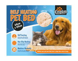 SELF HEATING PET PAD BLANKET BED FOR CATS DOGS CUSHION BED WARM FLEECE WINTER