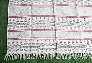 Handmade Cotton 4x6ft Dari Rug Carept Floor Rug Area Rug Runner Home Rug Dhurrie