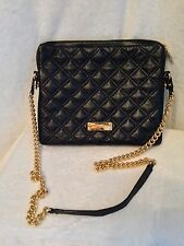 **NEW** Marc Jacobs Black Leather Quilted Crossbody iPad Computer Case