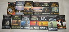 Terry Goodkind lot of 13 PB'S prequel-12 in the Sword of Truth ALL BLACK COVERS