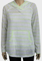Ladies Organic Cotton Earth Yoga Lemon Lime Thin Knit Pull On Hoodie Size S NEW