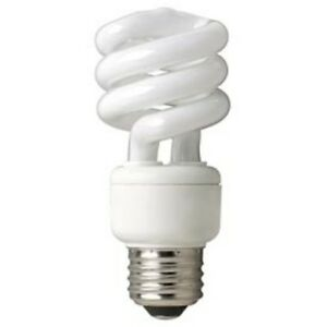 TCP E26 CFL Compact Fluorescent Twist Light Lamp Spiral 14W 3500K = 60W 23467