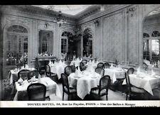PARIS IX° / SALLE à MANGER du NOUVEL HOTEL en 1914